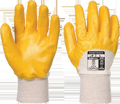 Nitrile Light Knitwrist Glove