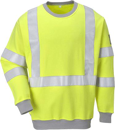 Flame Resistant Anti Static Hi-Vis Sweatshirt
