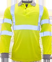 Flame Resistant Anti Static Hi-Vis Polo Shirt