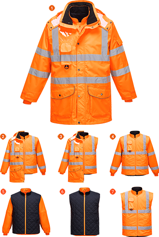Hi-Vis 7-in-1 Jacket
