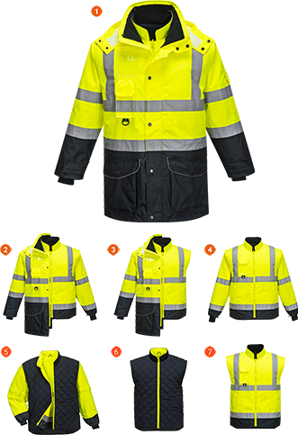 Hi-Vis 7in1 Contrast Jacket