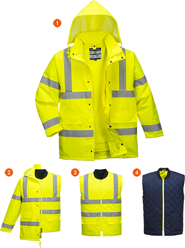 Hi-Vis 4-in-1 Jacket