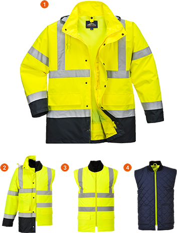 Hi-Vis 4in1 Contrast Jacket
