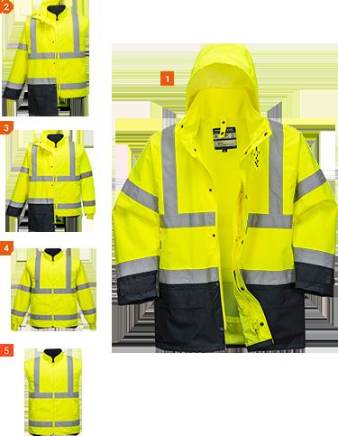 5in1 Hi-Vis Executive Jacket